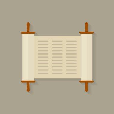 Vector illustration of a Torah scroll