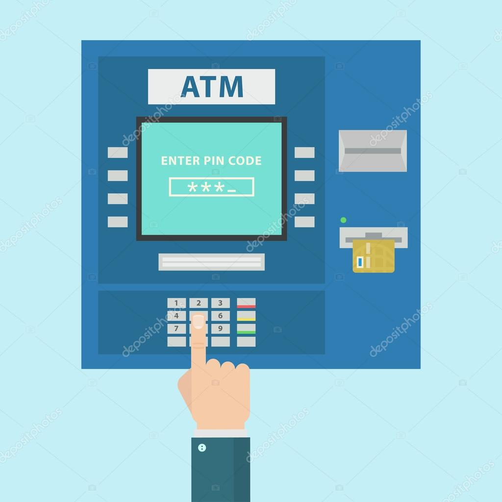 Atm payment vector illustration stock vector axsimen for Cajero automatico