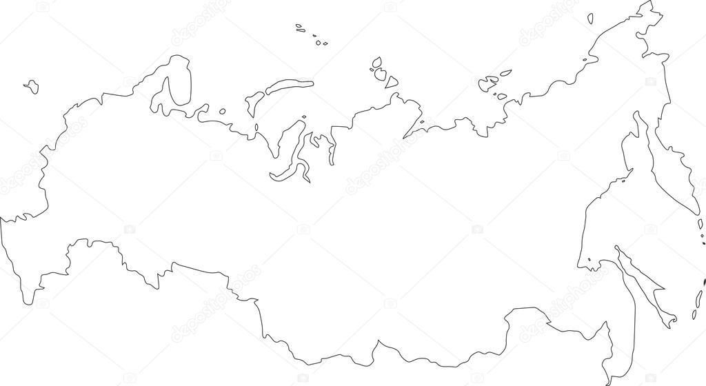 контуры карты россии распечатать юмор