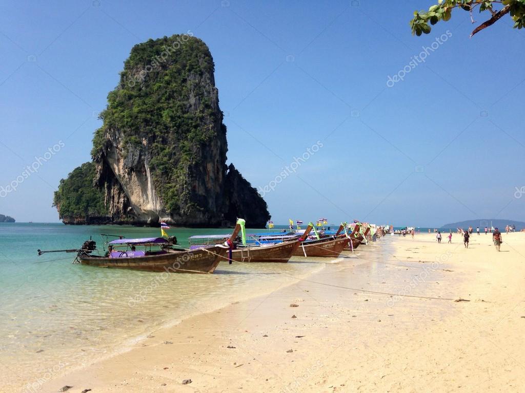 Boats on Ao Nang beach
