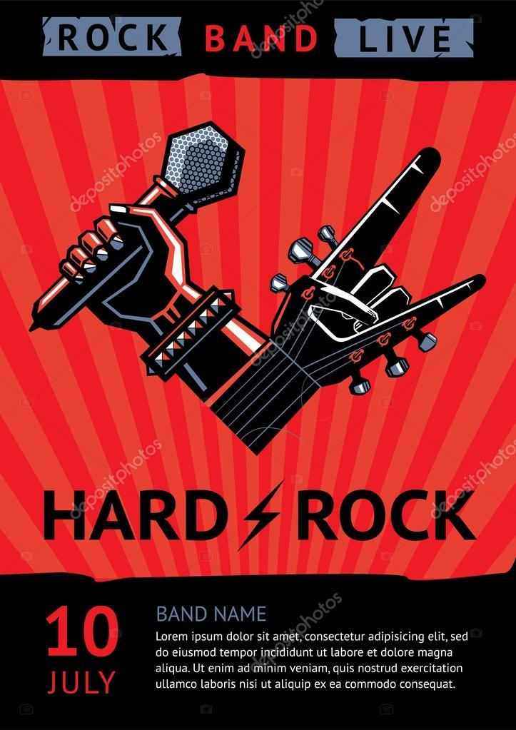 Plakat Koncert Rockowy Grafika Wektorowa Ne2pi 75717911