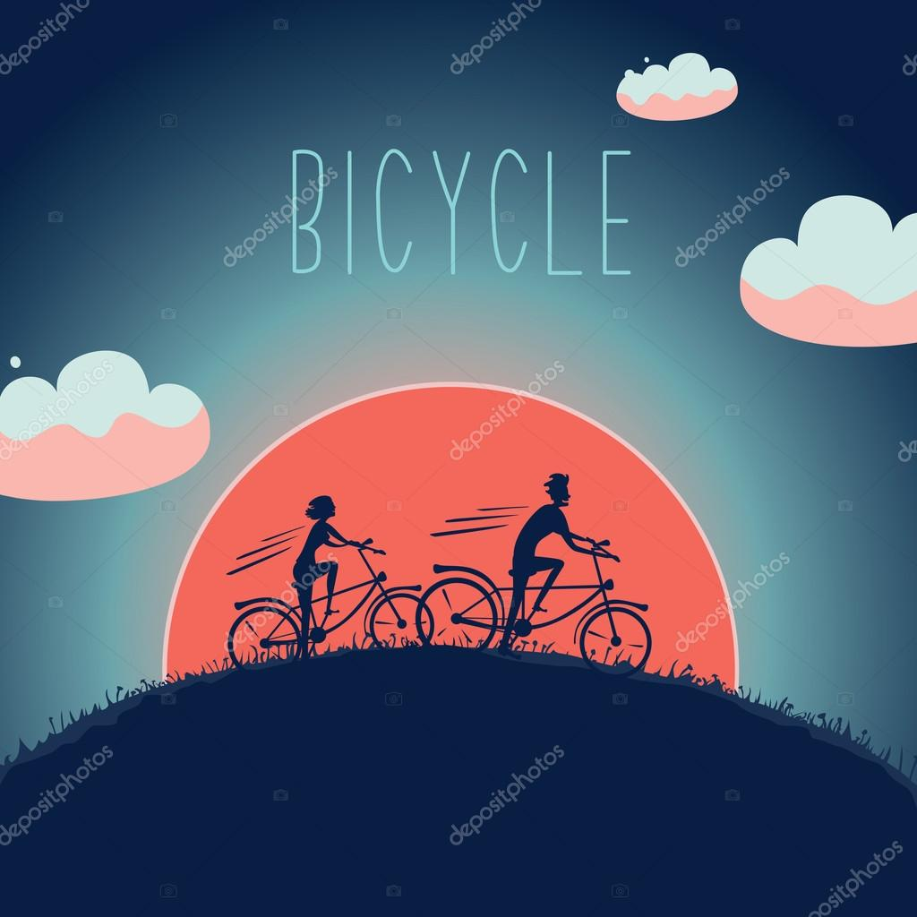 Man and woman on the bike