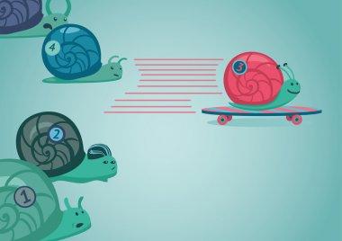 Snail race illustration.