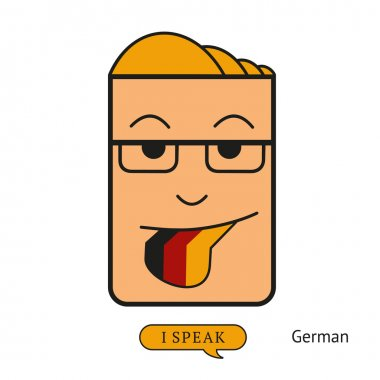 tongue like german flag