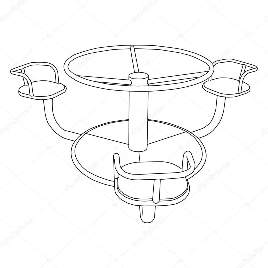 balanceador del oscilación para niños, set, doodle estilo, boceto ...