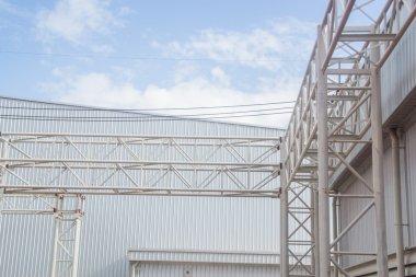 construction pipe bridge in factory