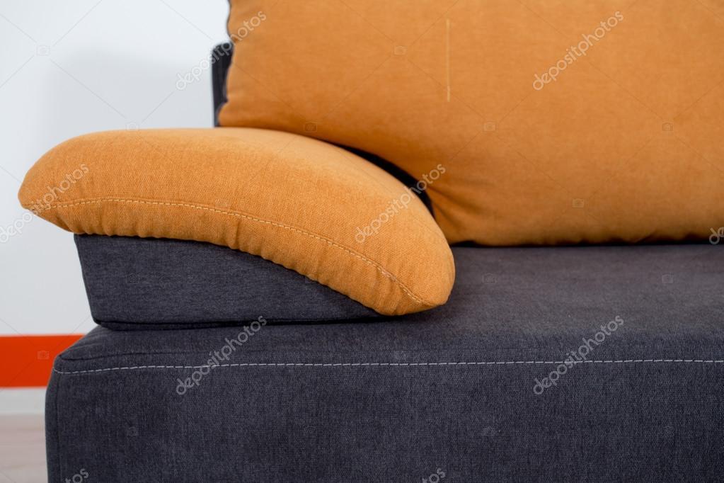 Divano Pelle Arancione : Divano di close up texture pelle blu arancio u foto stock