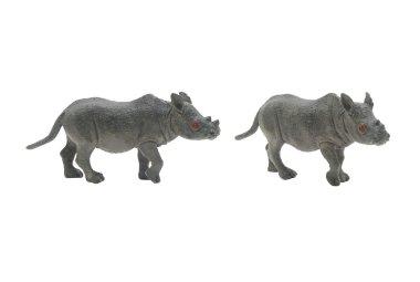 Isolated rhinoceros toy photo.