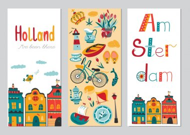 Netherlands vertical banner templates