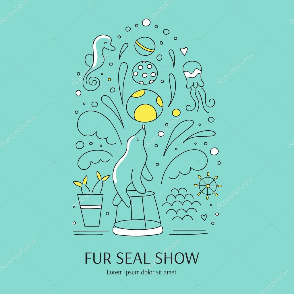 Fur seal show banner