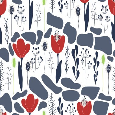 Tulips floral pattern
