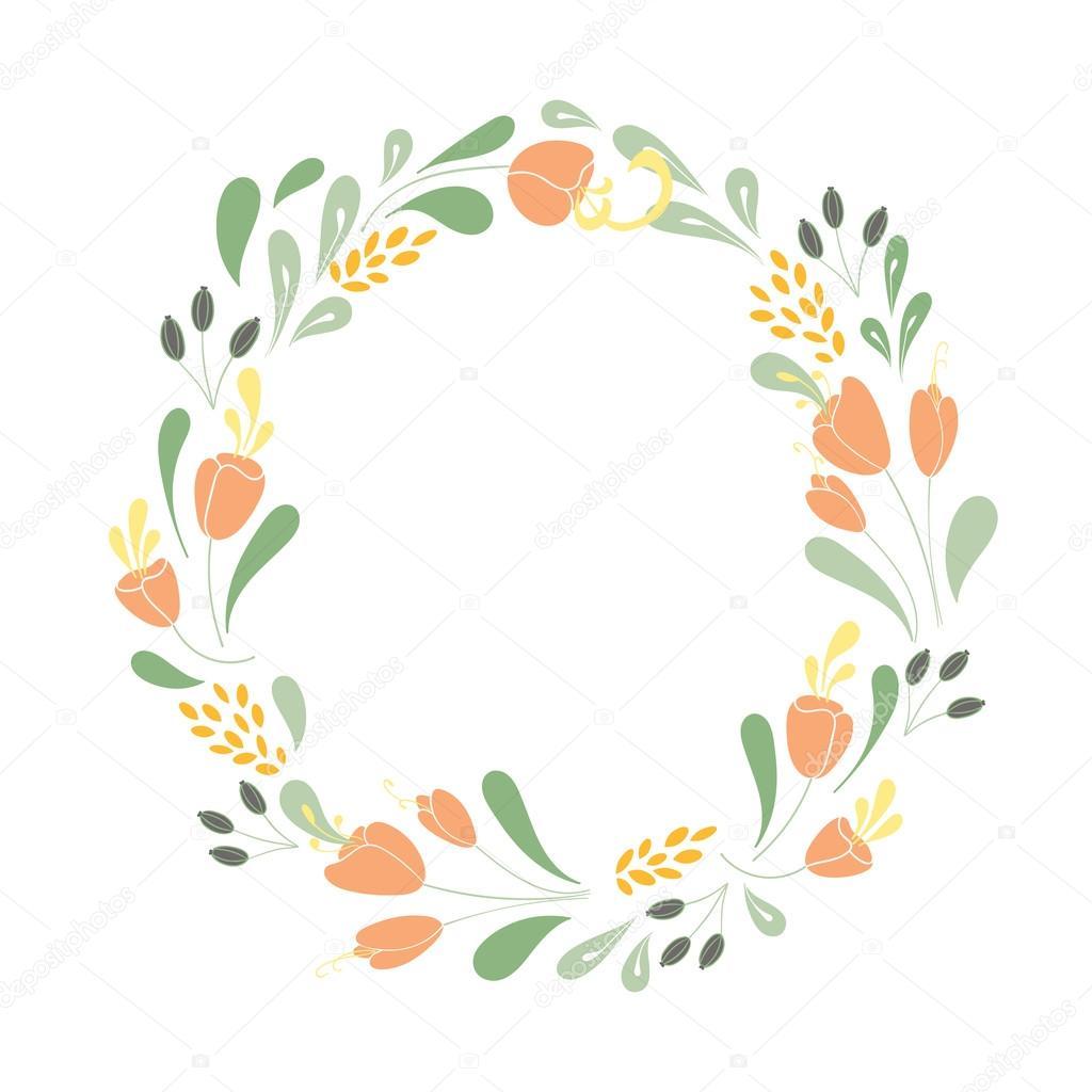 floral vector rahmen — Stockvektor © Julia_Khimich #89314456