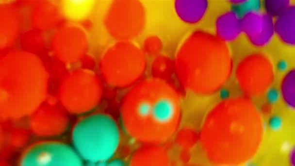 Inkoust bubliny ve vodě