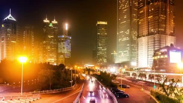 Timelapse. Čína. Šanghaj.
