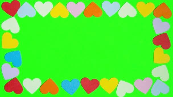 Srdce ve tvaru na zelené obrazovce