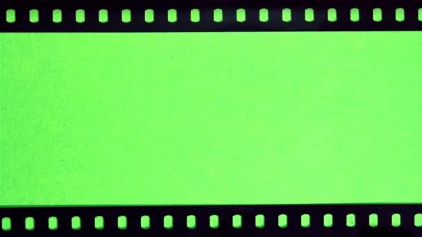 Perforazione della pellicola sullo schermo verde