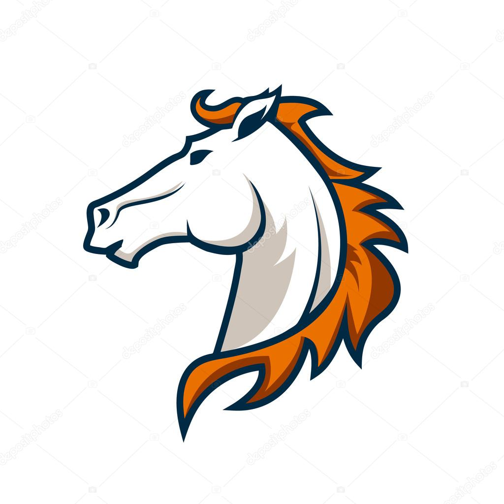 logo template with horse head. Sport team logo. — Stock Vector © art ...