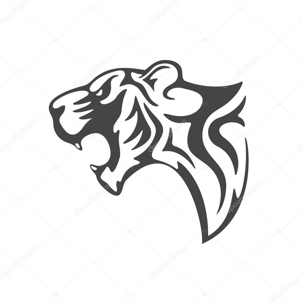 photo relating to Printable Tattoo Stencil identified as Printable tiger stencil Tiger intellect tattoo template Inventory