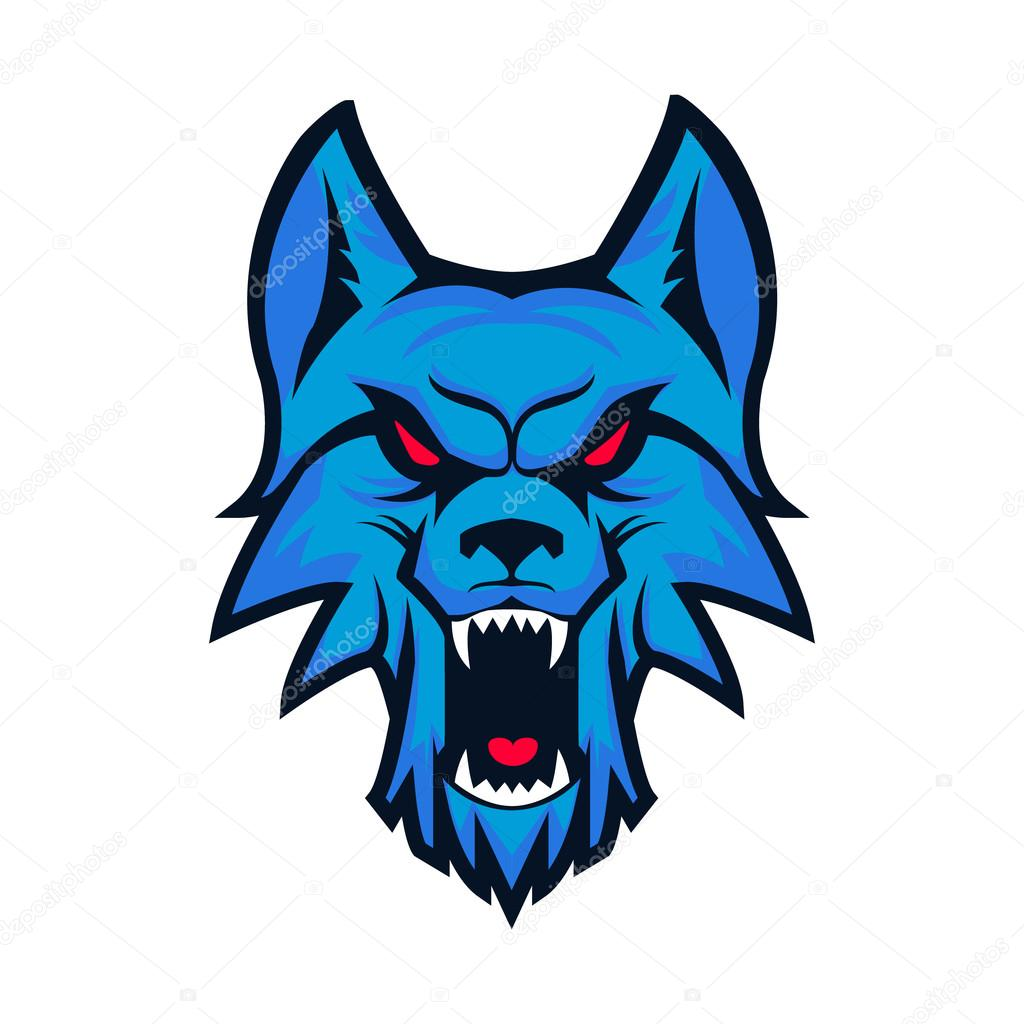 template of logo with angry wolf head emblem for sport team ma rh depositphotos com Wolf Head Designs Wolf Head Clip Art