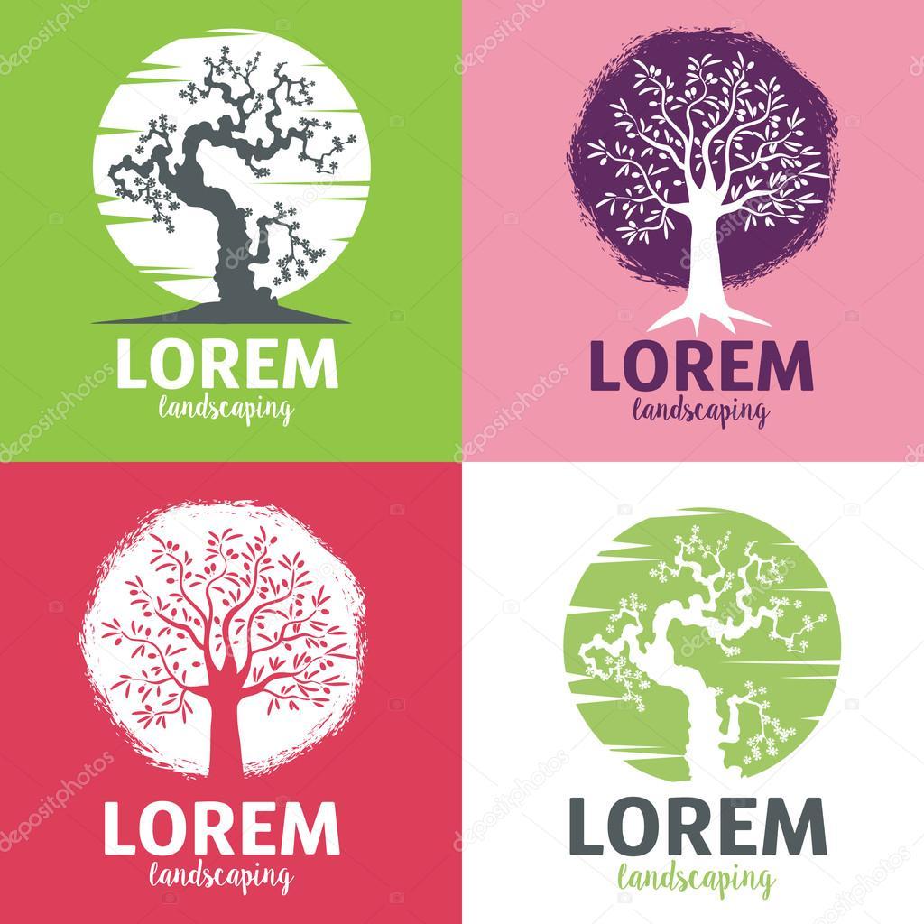 Architektura Krajobrazu Logo Szablony Elementy Projektowania Logo