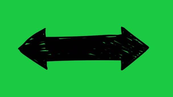 Frame by frame hand drawn arrow animation
