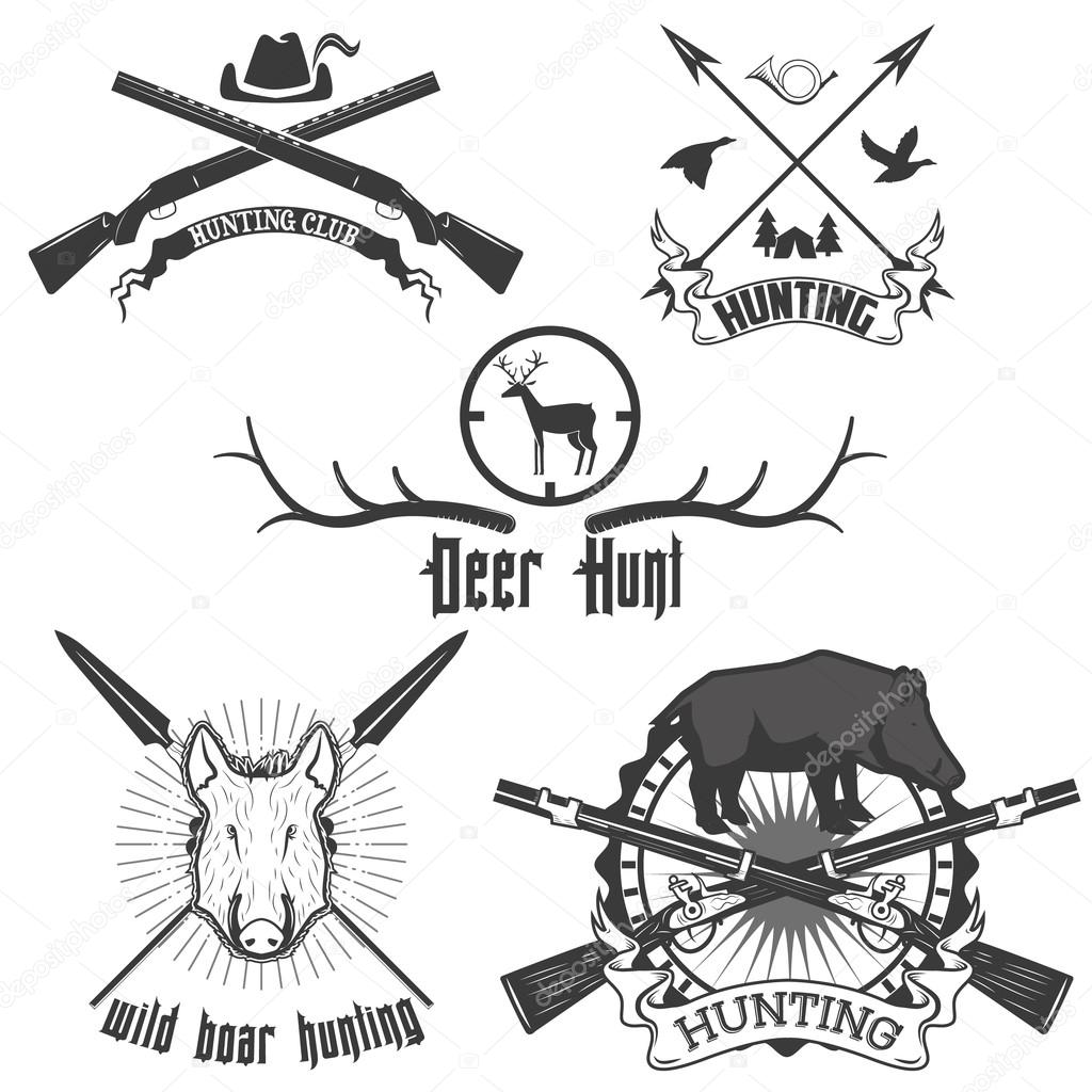 wild boar hunting labels