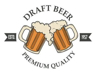 Draft beer logo
