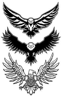 set of vector eagles