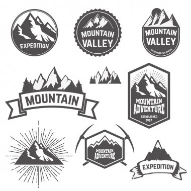 mountains set in vector