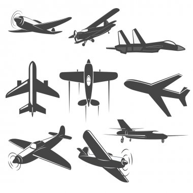 Retro Vector planes set.