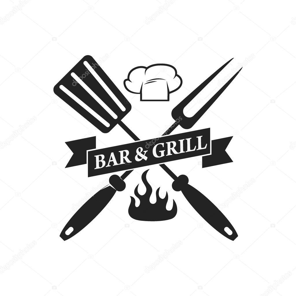 Grill-Bar Wappen Vorlage — Stockvektor © art-l@i.ua #92252598