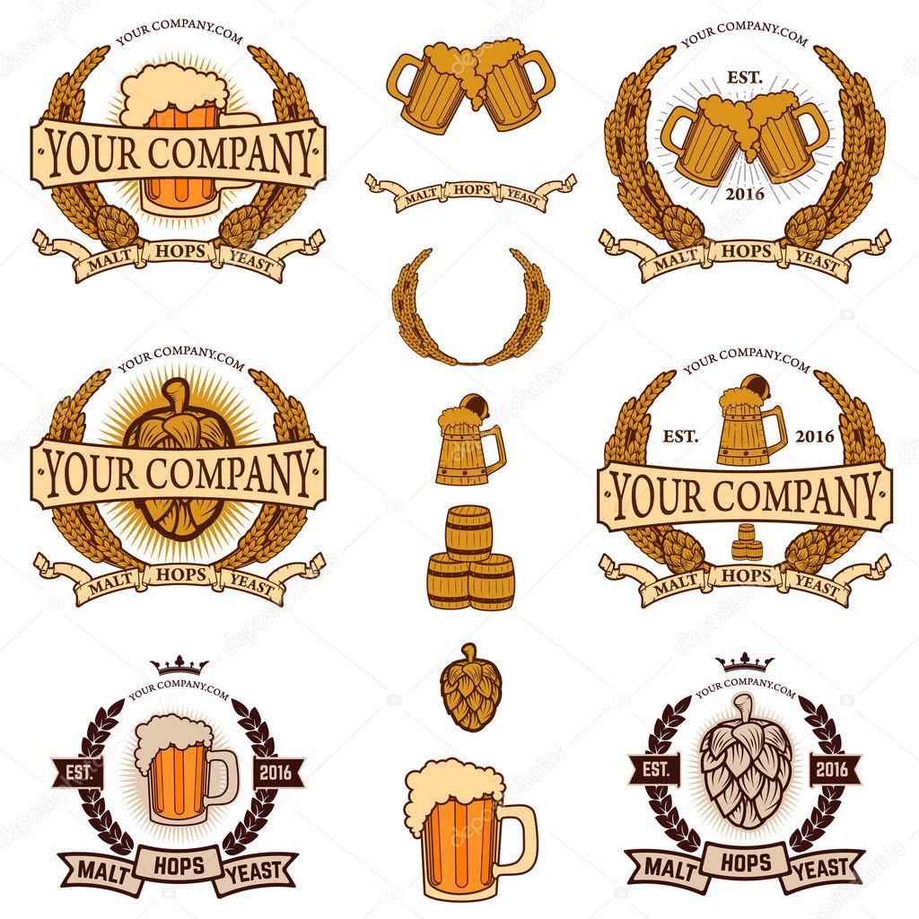 Beer Labels Generator Stock Vector