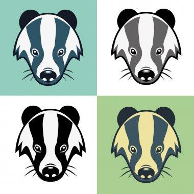 Badger Mascot Head Illustration Emblem