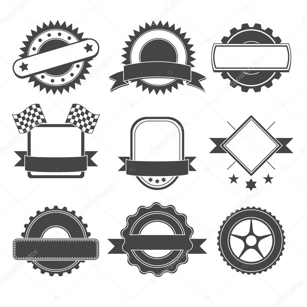 Conjunto de elemento de logotipo para mec nico garaje for Logos de garajes