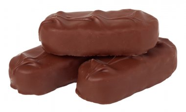 chocolate bars on a white background