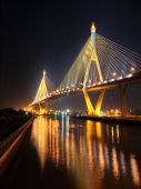 Fotografie Bhumibol Bridge in Thailand, also known as the Industrial Ring Road Bridge, in Thailand.