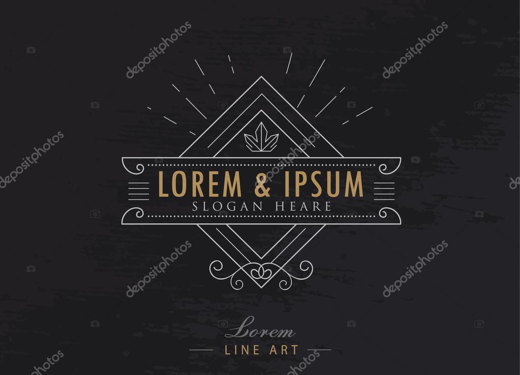 Elegantní luxusní loga vzkvétá kaligrafie styl bederní