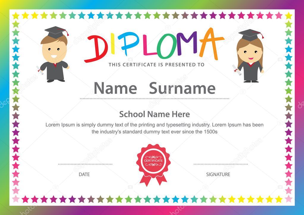 preschool diploma certificates