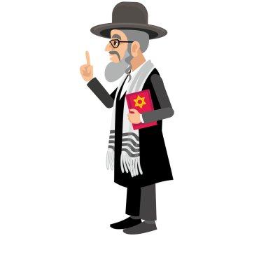 Rabbi,with Payot and  torah stock vector