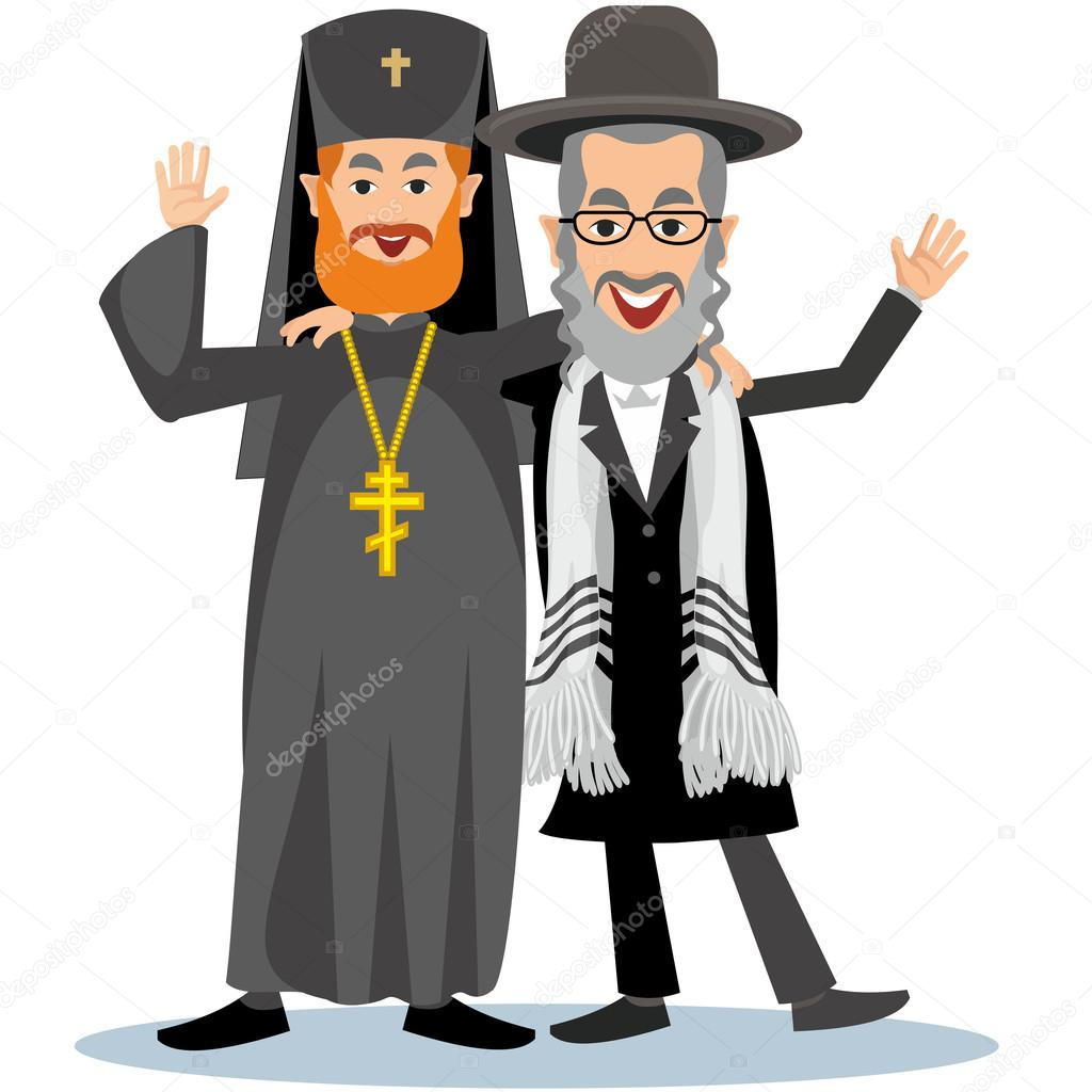 Orthodox priest with jew hassid stock vector amid999 for Stock cuisine saint priest