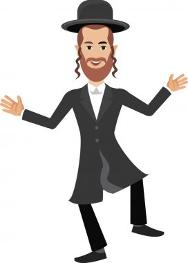 Jew man, Semite, Israel stock vector