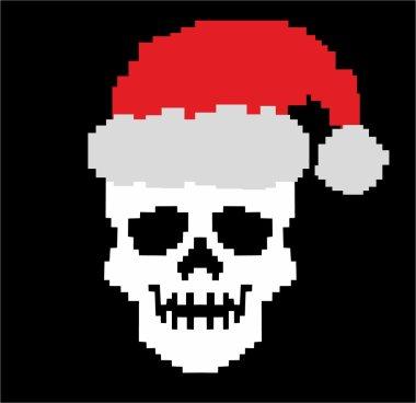 grunge skull, horror, t-shirt dising pixel