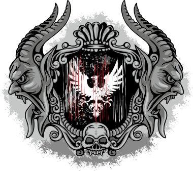 eagle grunge skull coat of arms