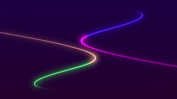 Neon abstraktní animace pozadí pohybu koncepce