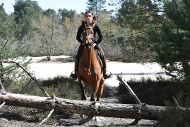 young woman riding
