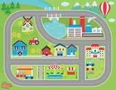 Car track play placemat