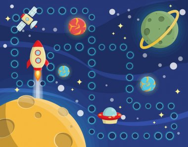 Children activity space racing placemat