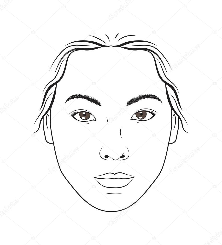 Asian Female Face Makeup Chart For Makeup Beauty And Cosmetics