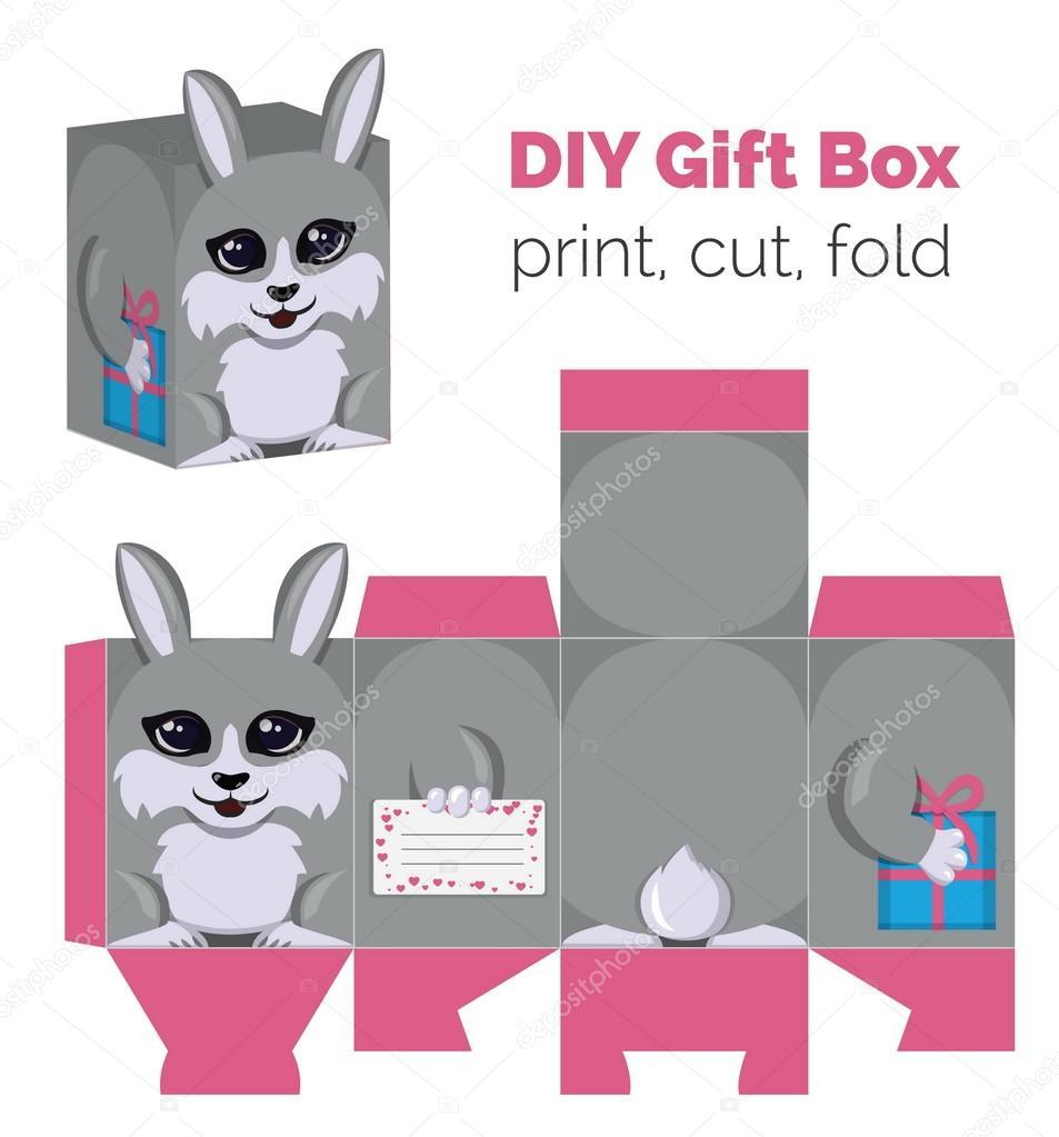 Adorable do it yourself diy rabbit gift box with ears for sweets adorable do it yourself diy rabbit gift box with ears for sweets candies small solutioingenieria Choice Image
