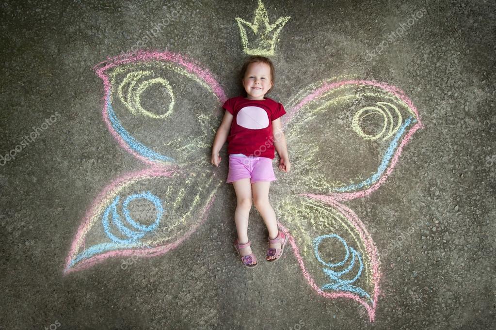 Little girl Butterfly, JOY